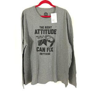Life Is Good Long Sleeve T Shirt Right Attitude XL